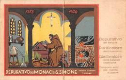 """08138 """"DEPURATIVO DEI MONACI DI S. SIMONE - FARMACIA SAN SIMONE - TORINO"""" CALENDARIO ORIG. 1931 A. IX - Formato Piccolo : 1921-40"""