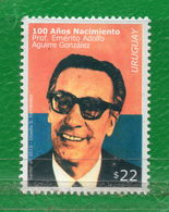 1668 URUGUAY-2019 100 Años Del Nac. Del Prof. Emérito A. Aguirre González TT: Lentes, Personalidades - Uruguay