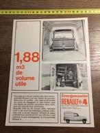 ANNEES 60 PUBLICITE FOURGONNETTE RENAULT 4 - Alte Papiere