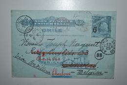 Chili 1910 Carte Postale Chili Vers Belgique - Chili