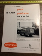 ANNEES 60 PUBLICITE PATISFRANCE USINES A SAINT DENIS ET CHARMES VOSGES GERMAINE BOURET - Alte Papiere