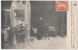 SEMEUSE CROIX ROUGE Sur CARTE POSTALE. LES ZEPPELINS Sur PARIS. 1916. - 1906-38 Semeuse Camée
