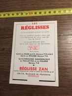 ANNEES 60 PUBLICITE LES REGLISSES ZAN MARSEILLE - Alte Papiere
