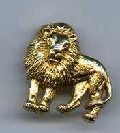 FEVES - FEVE - LION  METAL DORÉ - SAFRICAIN 1993 - Animaux