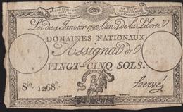 France / 25 Sols / 1792 / P-A55(a) / VG - ...-1889 Anciens Francs Circulés Au XIXème