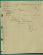 62 Wizernes Papeteries De L' Aa Anciens Établissements Dambricourt Frères Papeteries Mécaniques 24 Mars 1908 - Imprimerie & Papeterie