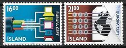 Islande 1988 N° 635/636 Neufs Europa Transports Et Communication - 1944-... Republik