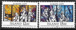 Islande 1987 N° 618/619 Neufs Europa Architecture - 1944-... Republik