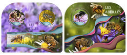 DJIBOUTI 2019 - Bees, M/S + S/S. Official Issue - Djibouti (1977-...)