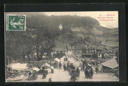 CPA Albertville, Pont Des Adoubes Et Chateau Gravin - Albertville