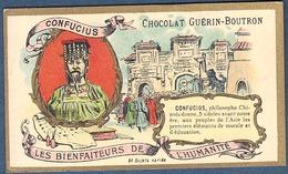 Chromo Chocolat Guerin-Boutron Les Bienfaiteurs De L'Humanité - CONFUCIUS Philosophe Chinois Chine Asie Sagesse - Guerin Boutron