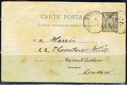 (C 16) CARTA POSTALE ENTIER SAGE 10 C.// OBLITÉRÉ A LE HAVRE 1893 - 1877-1920: Periodo Semi Moderno