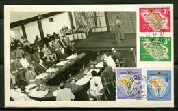 Carte Maximum / Maximum Card. Ghana, Ancien Gold Coast; Timbres Scott # 21-24 (complet). (0355) - Ghana (1957-...)