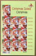 2014 Christmas Complete Sheet 10x 65c S/A MNH - Christmas Island