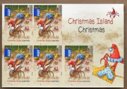 2014 Christmas Complete Booklet 5x $1.80 S/A MNH - Christmas Island