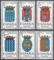 ESPAÑA - SPAGNA - SPAIN - ESPAGNE- 1965 - Serie Completa Di 6 Valori Nuovi MNH: Yvert 1326/1331. - 1931-Oggi: 2. Rep. - ... Juan Carlos I