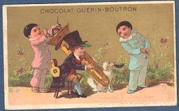 Chromo Or Doré Chocolat Guerin-Boutron Vallet Minot Ophicléide Pierrots Caniche Scarabée 2 La Charité S'il Vous Plait - Guerin Boutron