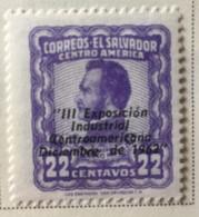 El Salvador - MH* - 1962 - # 729 - El Salvador