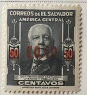 El Salvador - MH* - 1952 - # 621/626 - El Salvador