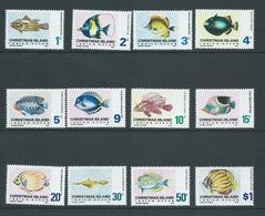 Christmas Island 1968 Fish Definitives Set 12 MNH - Christmas Island