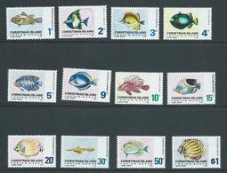 Christmas Island 1968 Fish Definitives Set 12 MNH , Many With Small Gum Knocks - Christmas Island