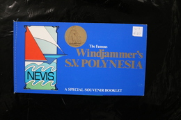 Nevis Windjammer's SV Polynesia Ships Complete Booklet Two Panes 1980 A04s - St.Kitts And Nevis ( 1983-...)