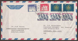 SWITZERLAND. 1970. RESEARCH INSTITUTE AIR MAIL COVER TO U.S.A. POSTMARK DAVOS PLATZ. - Switzerland