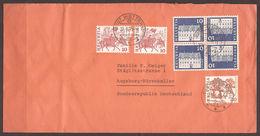 SWITZERLAND. 1979. COVER. 10c BLUE. TWO TETE BECHE PAIRS IN BLOCK OF FOUR. POSTMARK WETTSWIL. - Switzerland