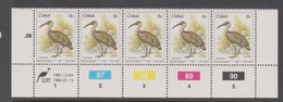 South Africa-Ciskei Scott R12 1981 Birds,8c Bostrychia Hagedash Dated 1982,Strip 5,mint Never Hinged - South Africa (1961-...)