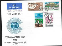 Nigeria. Scott # 426-29 FDC. Commonwealth Day 1983 - Nigeria (1961-...)
