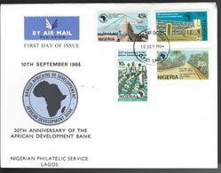 Nigeria. Scott # 458-61 FDC. 20th Anniv. Of African Development Bank 1984 - Nigeria (1961-...)
