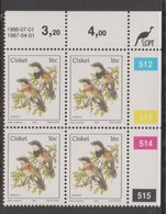 South Africa-Ciskei Scott R19 1981 Birds,16c Batis Capensis Dated 1988-07-01,Block 4,mint Never Hinged - South Africa (1961-...)