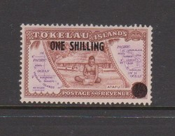 Tokelau SG 5 1956 Surcharged ONE SHILLING,mint Never Hinged - Tokelau