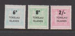 Tokelau SG 6-8 1966 Arms Surcharged,mint Never Hinged - Tokelau