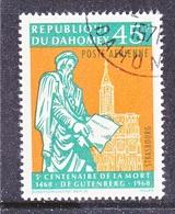 DAHOMEY  C 69   (o)   GUTENBERG  PRINTING  PRESS - Dahomey (1899-1944)