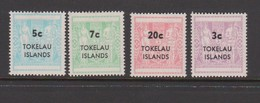 Tokelau SG 12-15 1968 Arms Surcharged,mint Never Hinged - Tokelau