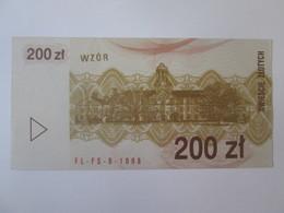 Rare! Poland Voucher 200 Zlotych 1990 Banknote UNC - Poland