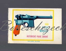 K5-253 CZECHOSLOVAKIA 1968 Historical Weapon, Arma  Pistol Mauser C96  Semi-automatic Pistol Pistola Semiautomática - Zündholzschachteletiketten