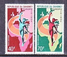 DAHOMEY  C 127-8   (o)   EUROPAFRICA  , MAP , GOD  MERCURY - Dahomey (1899-1944)