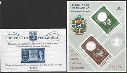 Venezuela   1961-2   Sc#801a & C819c Souv Sheets   MNH    2016 Scott Value $6.50 - Venezuela