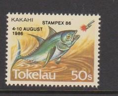 Tokelau SG 114 1984 Fish 50c Overprinted STAMPEX 86,mint Never Hinged - Tokelau