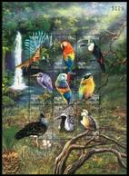 Bhutan 1999 MNH SS, Birds, Herons, Parrots, Toucans, Waterfall S ( - Cuckoos & Turacos