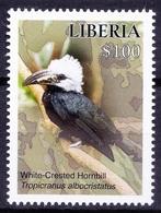 White-crested Hornbill, Birds, Liberia 2016 MNH   ( - Cuckoos & Turacos