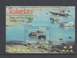 Tokelau SG MS 218 1995 Year Of The Pig Miniature Sheet,mint Never Hinged - Tokelau