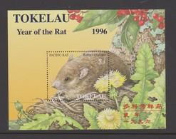Tokelau SG MS 239 1996 Year Of The Rat Miniature Sheet,mint Never Hinged - Tokelau