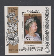 Tokelau SG MS 244 1996 70th Birthday Queen Elizabeth Miniature Sheet,mint Never Hinged - Tokelau
