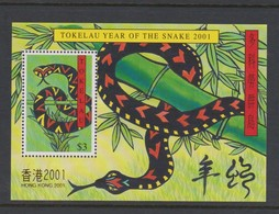 Tokelau SG MS 319 2001 Year Of The Snake  Hong Kong 2001 Miniature Sheet,mint Never Hinged - Tokelau