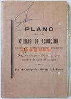 Antiguo Mapa Plano Ciudad De Asuncion Paraguay Nombres De Calles - Roadmaps