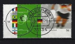 BUND Mi-Nr. 2258 - 2259 Paar Fußballweltmeister Im 20. Jahrhundert Gestempelt HILDESHEIM - BRD