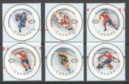 2000  National Hockey League - All Stars Players Series 1- 6 Singles From Souvenir Sheet Sc 1838 MNH - Neufs